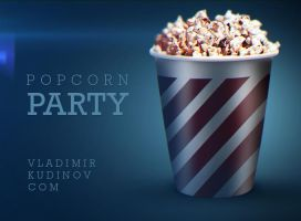 POPCORN Party Free PSD by vladimirkudinov