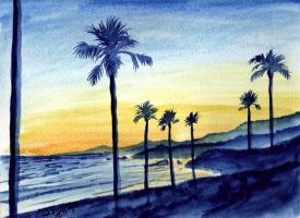 Pismo Sunset by Tater-Vader