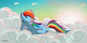Rainbow Dash -Power nap- by ApolloBroDA