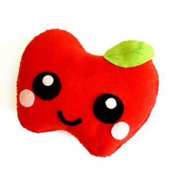 Apple Plush Cushion by LittleMissDelicious