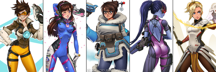 Overwatch heroes by MLeth