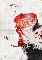 Paint Splatter: Hellboy by Arian-Noveir