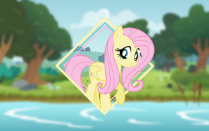Fluttershy Wallpaper (Mane 6 Wallpaper Pack) by Damuchi99
