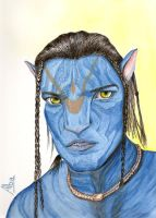 Jake Sully film Avatar by lamorghana