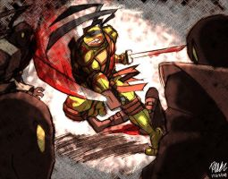 Leonardo vs Foot Ninjas by Tigerfog
