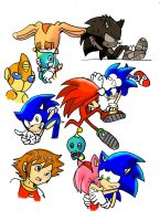 sonic x doodles by Blinded-Djinn