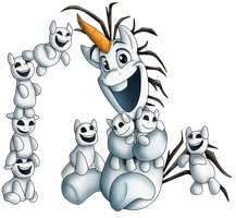 MLF Fever_Olaf and snowponis PNG by NamyGaga