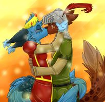 Medieval Kiss by ScottishPeppers