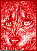 Bloodpaint ACEO by ElectricSilence