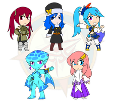 Assorted Chibis - Battle Divas by Dragon-FangX