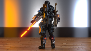 Custom Nanosuit back by ironmanjae
