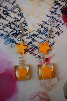 Lucky Paper Star Earrings by OcularFracture