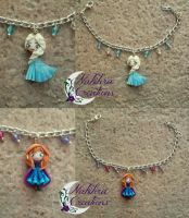 Anna and Elsa Bracelets by Nakihra