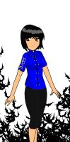 Koku-chan blue Chinese blouse by Koku-chan
