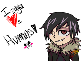 Izaya Hearts you!- ARTTRADE by Shiiruba
