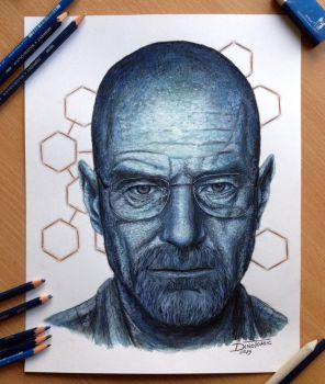 Walter White Pencil Drawing by AtomiccircuS