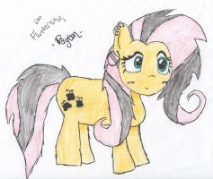 Emo Fluttershy by penguins80