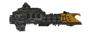 Warhammer 40K Majestic Class Escort Carrier by Seeras