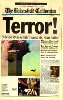 September 11th, 2001 newspaper by Nevuela