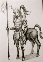 Knight Centaur by Grace-Zed