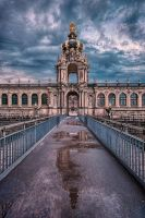 Kronentor (Crown Gate) of Dresden Zwinger by hessbeck-fotografix