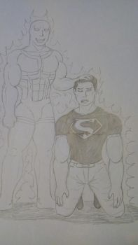 Art trade: Superboy and Parasite by RyuDrago