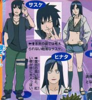 Sasuke and Hinata new Design in Road to Ninja by DarkRiku44