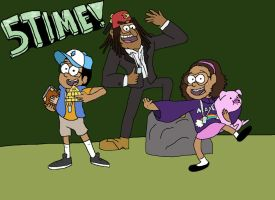 Kenny and Kids Gravity Falls Hype by CloneTrooper45