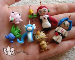 Pokemon charms by ladyoftheclay
