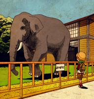 Yotsuba and the Elephant by FEE-MUH
