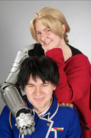 Who's taller Now? - Edward Elric and Roy Mustang by Rinkujutsu