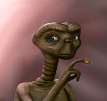 E.T. - The Lizard Creature and Me by sethshwan