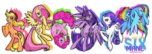 We Are The Mane Six by oddlittleleaf