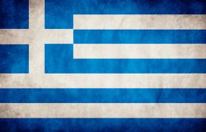 Greece Grungy Flag by think0