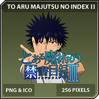 Toaru Majusu no Index II (Touma) - Anime Icon by Zazuma