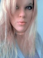 Blonde with Candy Necklace by ahtibat-stock