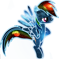 Cosmic Rainbow Dash by InuyashaRules6596