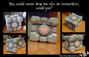 Companion Cube Box ~ by Iruno