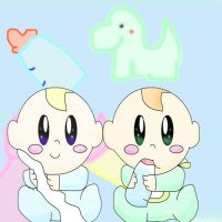 Twins Babies by ZommYippy