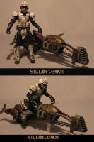 Steam Wars: Air Bike Trooper by sillof