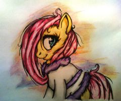 Fluttershy dressing-gown by Tomek2289