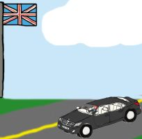 Taylor the Red Panda's Hyundai Equus in England by DPCBlueFox1991