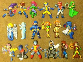 Perler Bead: X-Men by thewiredslain