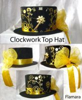 Clockwork Top Hat by flamarahalvorsen