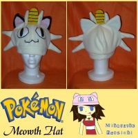 Meowth Hat by MiharutheKunoichi