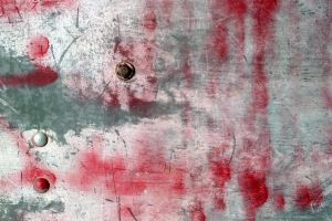 Red Paint on Metal by GrungeTextures