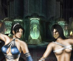 Kitana vs Mileena Unmasked by SrATiToO