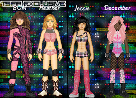 MyWWE: BOM/Heather vs. Jessie/December by TerenceTheTerrible