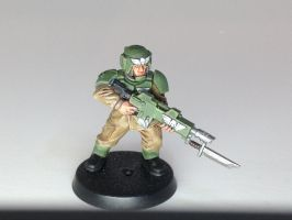 Imperial Guardsman by Ironclad40K