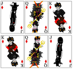 Homestuck Cards Diamonds Royalty Redraw by Phoenixette